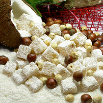 TURKISH DELIGHT WITH HAZELNUT COCONUT
