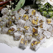 TURKISH DELIGHT WITH DOUBLE PISTACHIO SHREDDED COCONUT