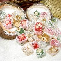 TURKISH DELIGHT WITH HAZELNUT WRAPPING